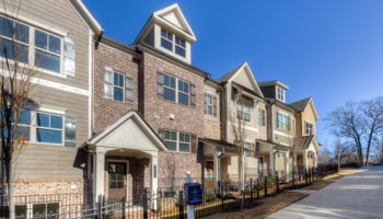 28 and Mill townhomes in downtown woodstock