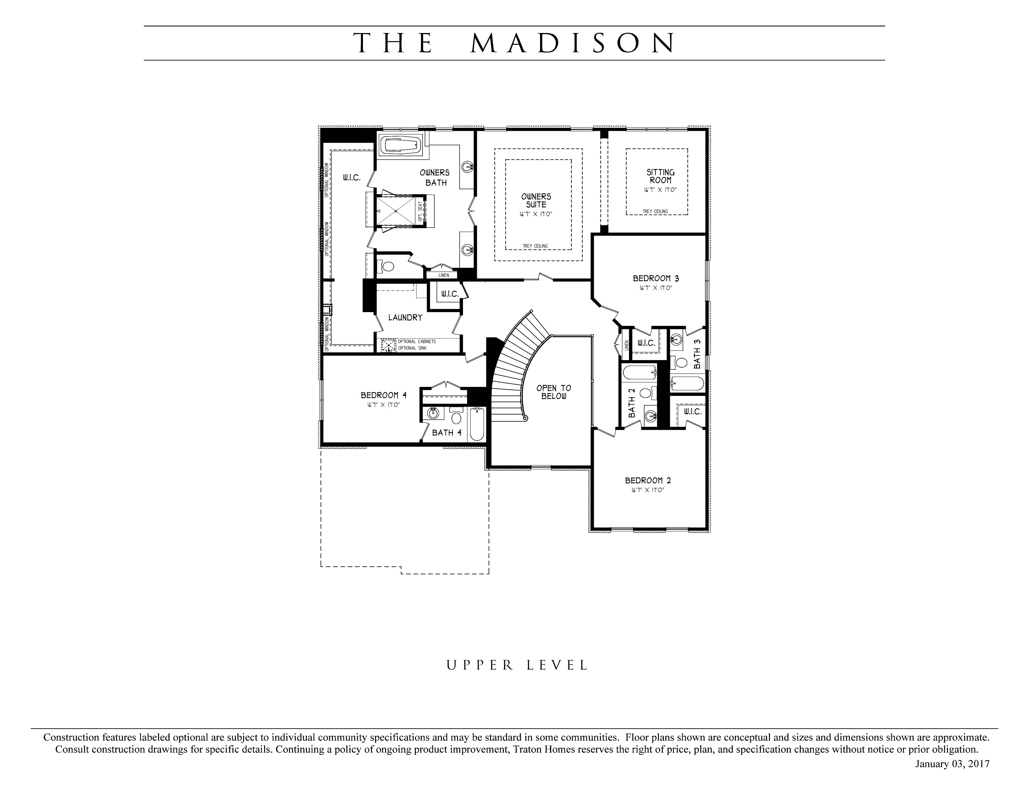 Madison traton homes for Madison homes floor plans