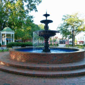 Historic Marietta Square fountain