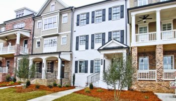 exterior of new model home in Cobb County