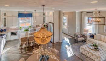 decorated model home in Cobb County community