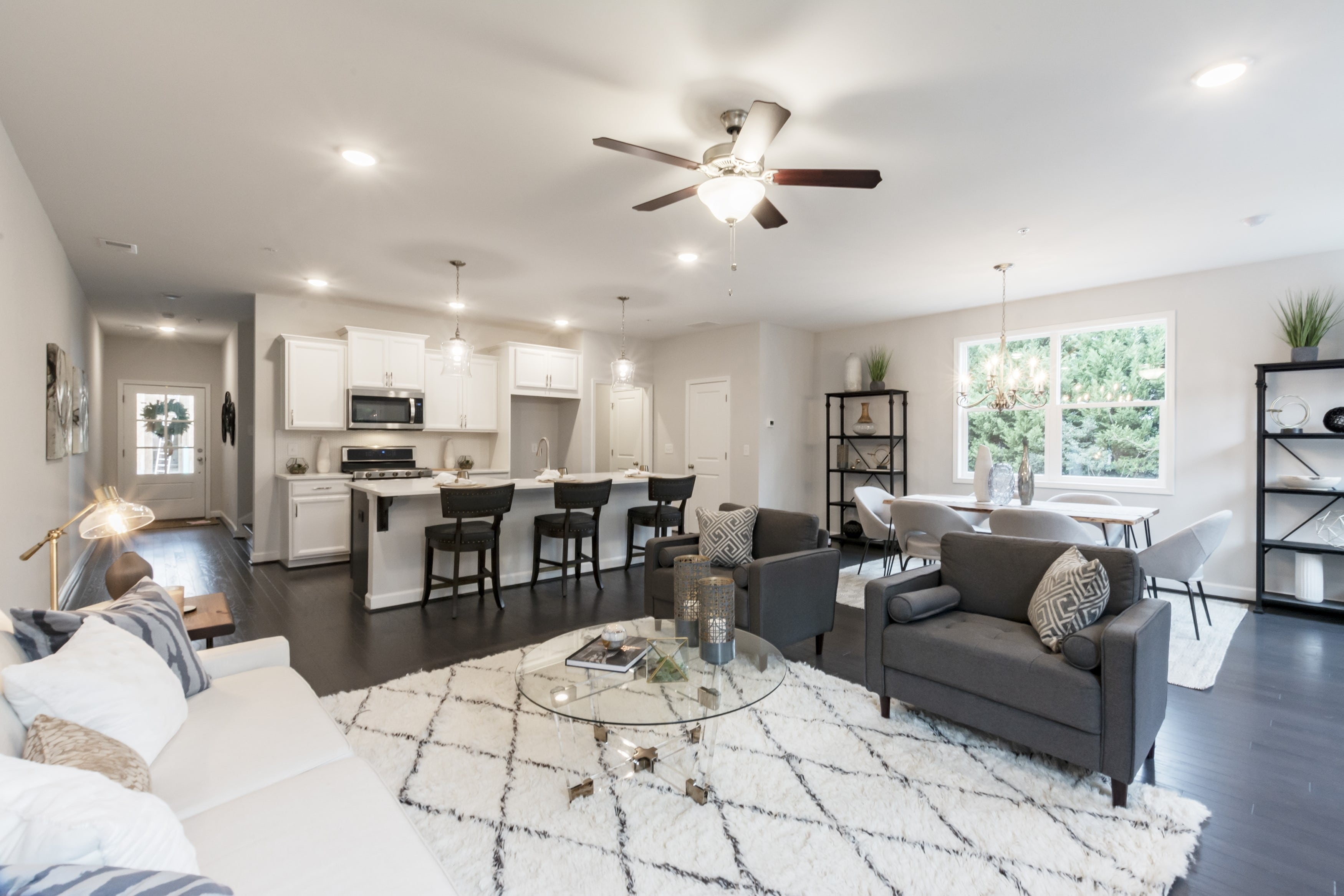 new staged model home at Cobb County community