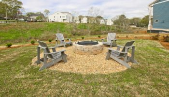 firepit at The Grove at Adams Pond in Smyrna