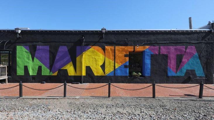 Marietta Square mural