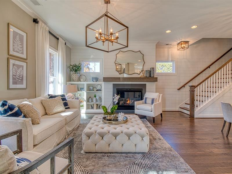 The Grove at Adams Pond Living Area - Traton Homes' Smyrna New Home Communities