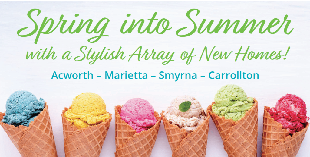 Spring into summer graphic