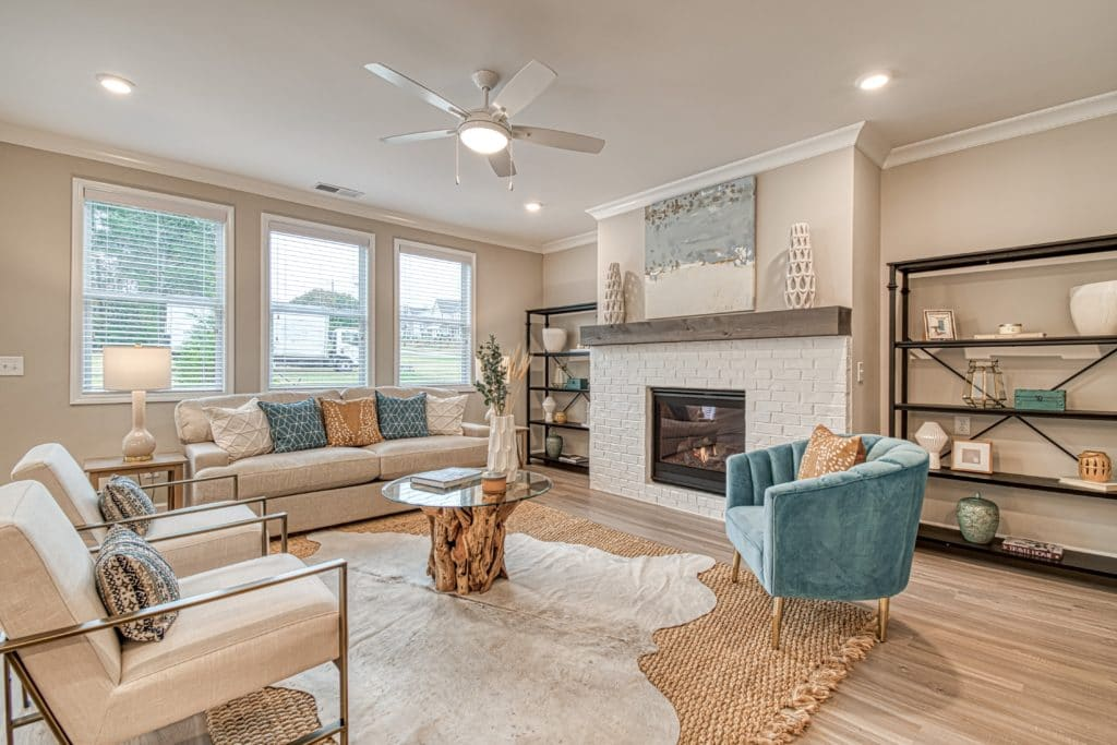 new decorated model home in Smyrna