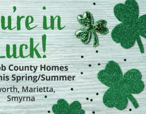 You're in Luck flyer spring or summer move-in homes